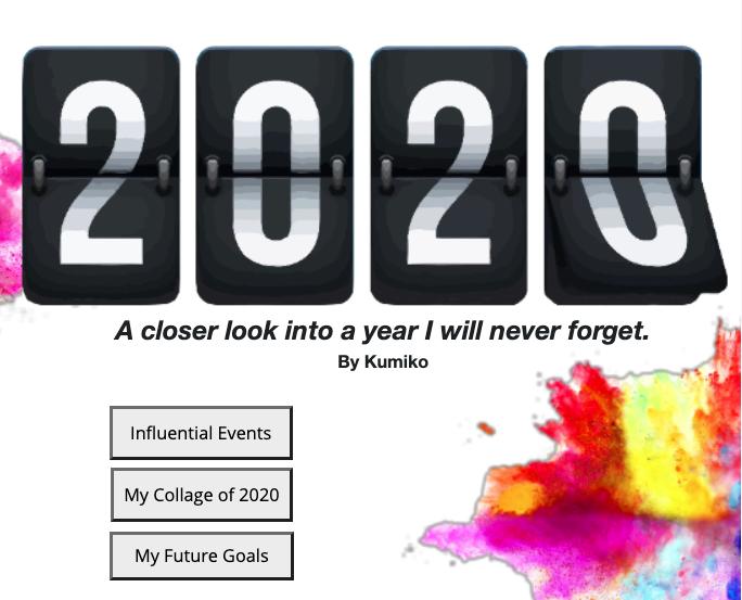 Kumiko's 2020 Project