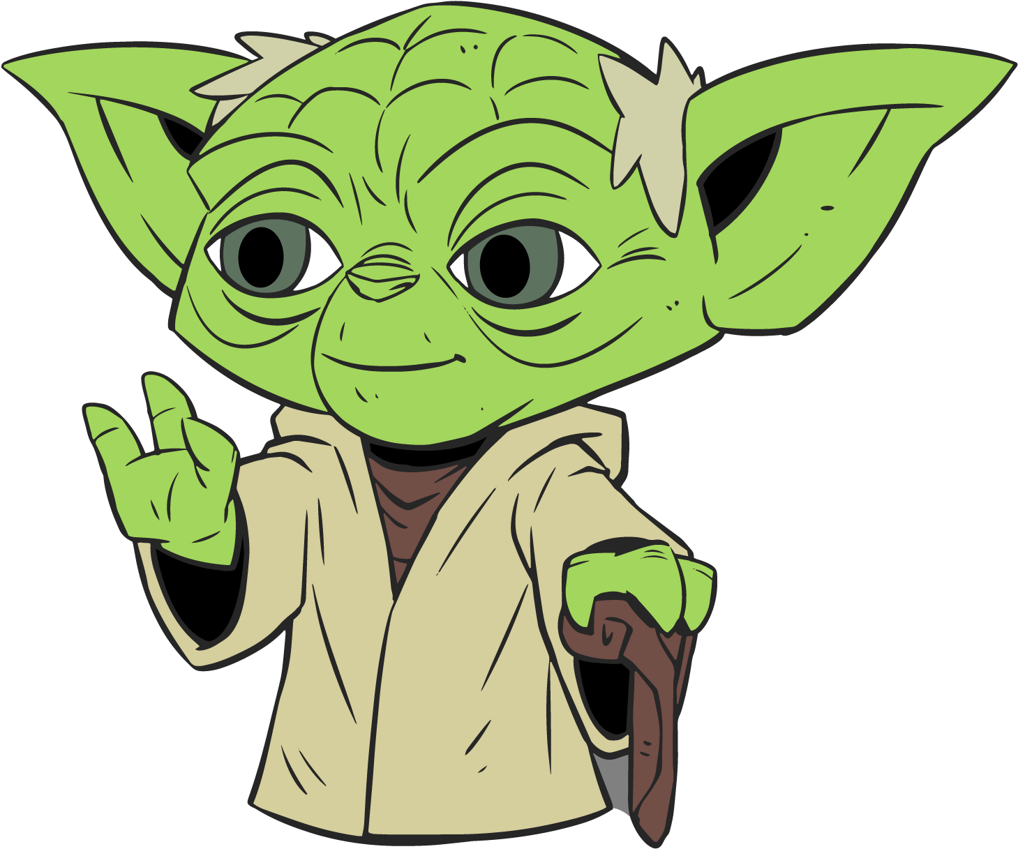 Bébé Yoda & Princesse Léa