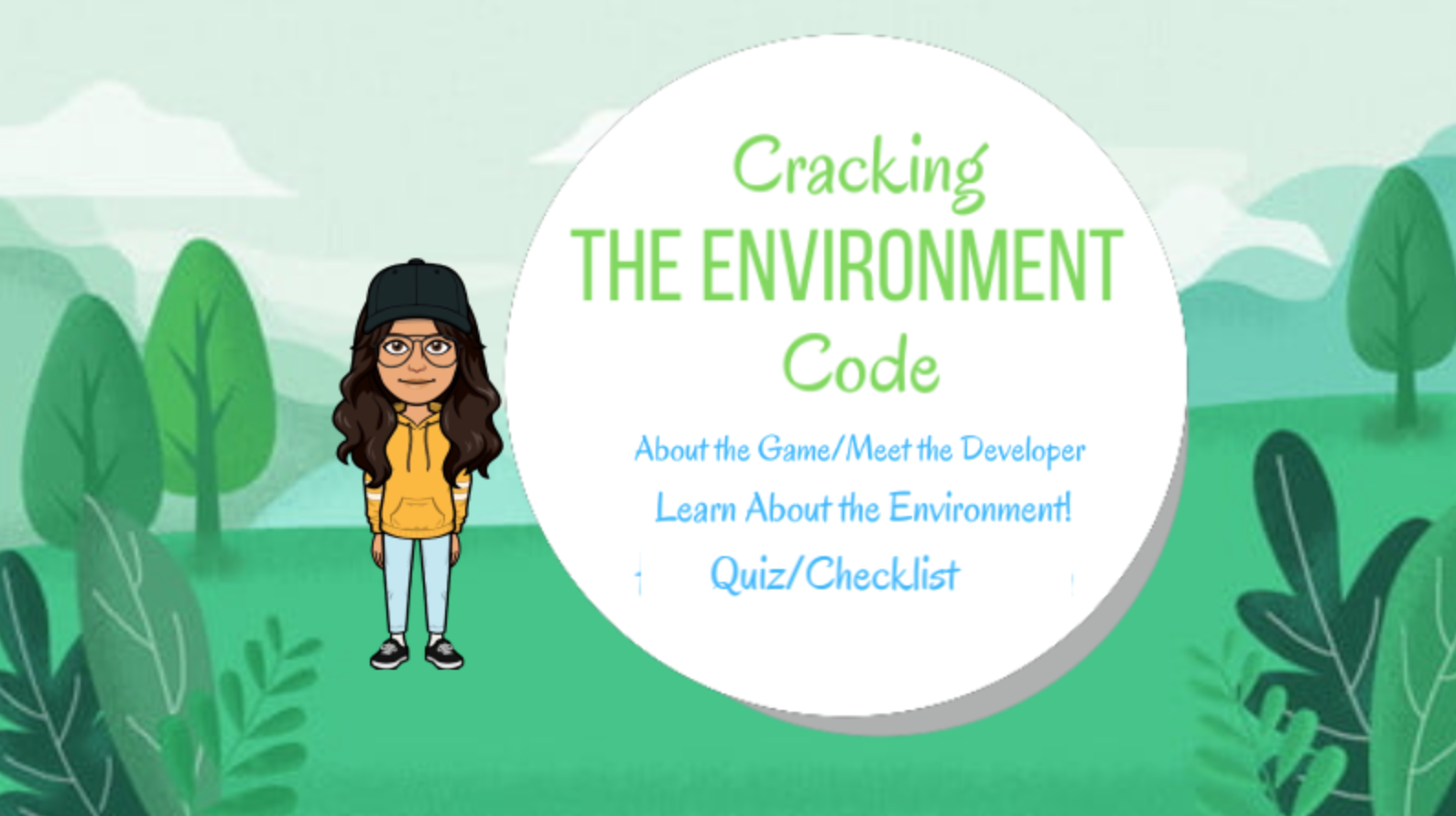 Cracking the Environment Code by Bhavani Potdar