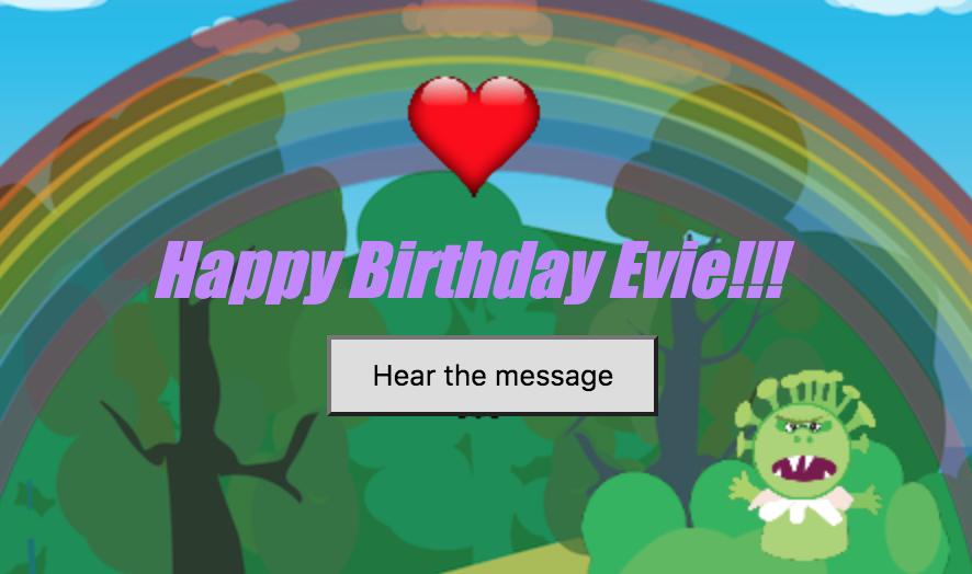 Happy Birthday Evie!