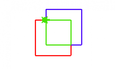 Calculate the intersection of two rectangles. A rectangle is defined by coordinates of top-left and bottom-right corners. Visualise them with Draw buttons, then calculate the intersection.