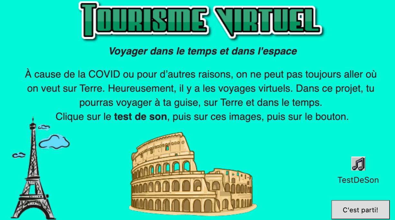 Tourisme virtuel! 🖥 🌎