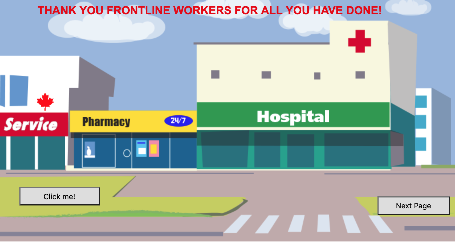 Thank You Frontline workers card